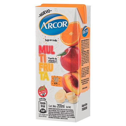 Foto ARCOR JUGO SABOR MULTIFRUTA 200 ML de