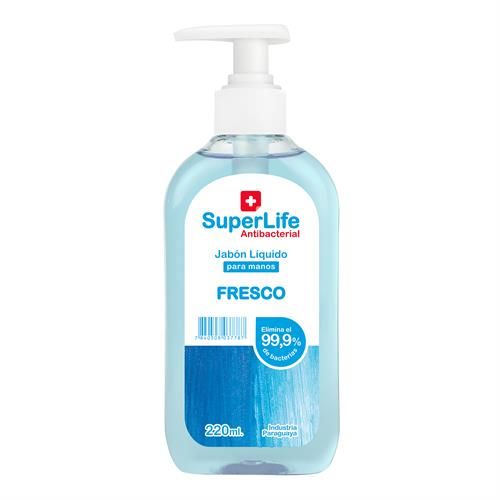 Foto JABON LIQ P/MANOS ANTIBAC FRAG FRESCO SUPERLIFE 220ML FCO de