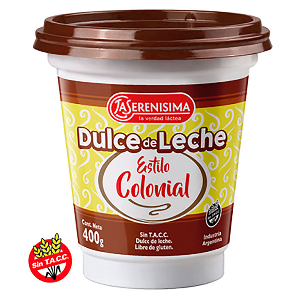 DULCE DE LECHE ESTILO COLONIAL 400GR LA SERENISIMA POT