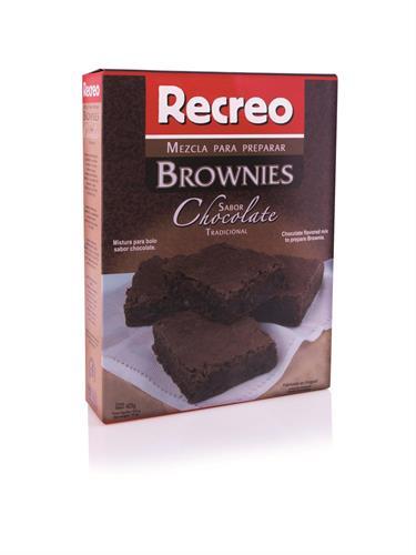 Foto MEZCLA PARA BROWNIE CHOCOLATE 425GR RECREO CAJA de