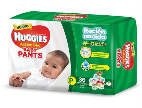 Foto PAÑALES ACTIVE SEC BABY PANTS P 36UNID HUGGIES MEGAPACK de