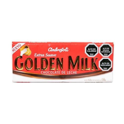 Foto CHOCOLATE D/LECHE GOLDEN MILK AMBROSOLI 120GR PLAST de