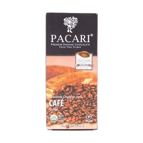 Foto PACARI BARRA DE CHOCOLATE ORGANICO CON CAFE 50 GR de