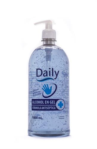 Foto ALCOHOL GEL DAILY ANTISÉPTICO CON DOSIFICADOR 1000ML de