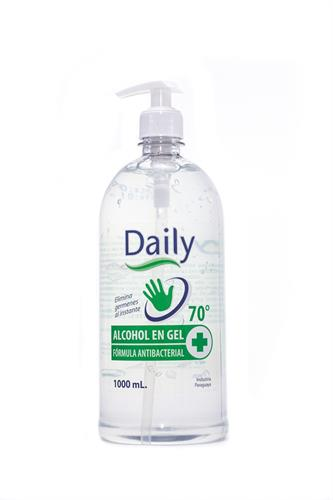Foto ALCOHOL DAILY GEL AL 70 ANTIBACTERIAL CON DOSIFICADOR 1000ML de