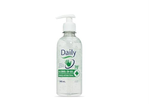 Foto ALCOHOL DAILY GEL AL 70 ANTIBACTERIAL CON DOSIFICADOR 340ML de