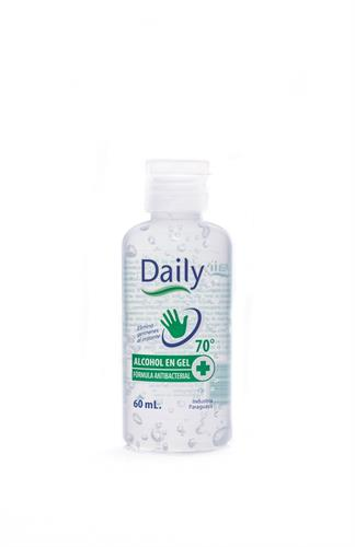Foto ALCOHOL GEL DAILY AL 70 ANTIBACTERIAL 60ML de