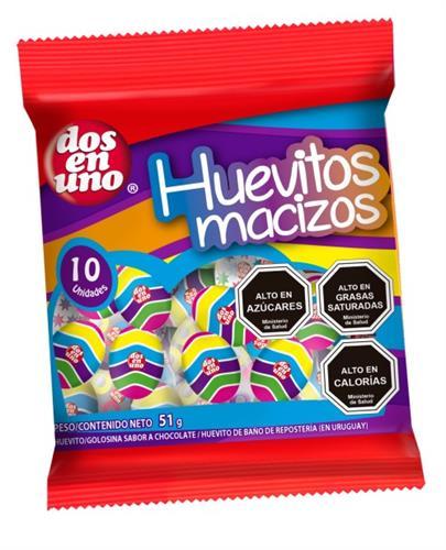 Foto HUEVITOS DE CHOCOLATE DOS EN UNO 10 UNIDADES  de