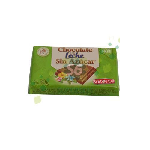 Foto CHOCOLATE CON LECHE SIN AZUCAR 30GR GEORGALOS de