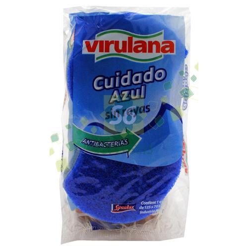 Foto ESPONJA VIRULANA AZUL PAQUETE 1 UNIDAD VIRULANA de