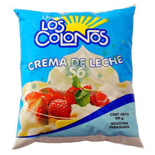 CREMA DE LECHE 500 GR LOS COLONOS SACHET