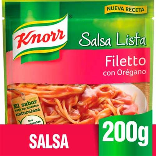 Foto SALSA FILETTO CON OREGANO 200G KNORR PLA de