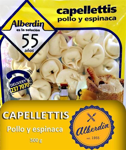 Foto CAPELLETTIS DE POLL Y ESPINACA 500GR ALBERDIN PAQUETE  de