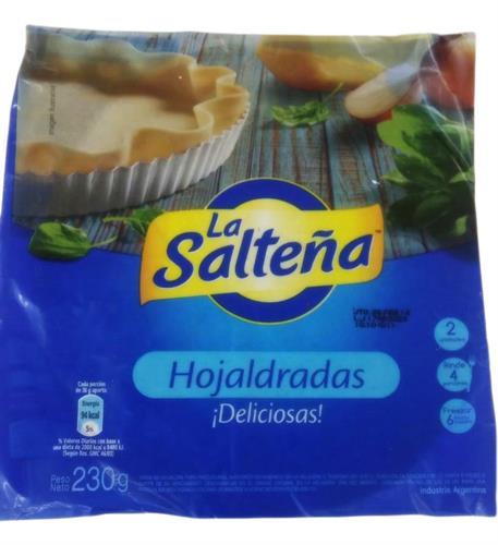 Foto TAPA PARA PASCUALINA HOJALDRADA 230GR LA SALTEÑA PAQUETE  de