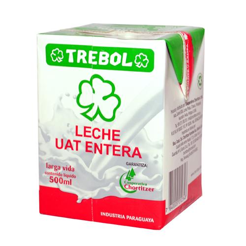 LECHE ENTERA 500ML TREBOL TETRA