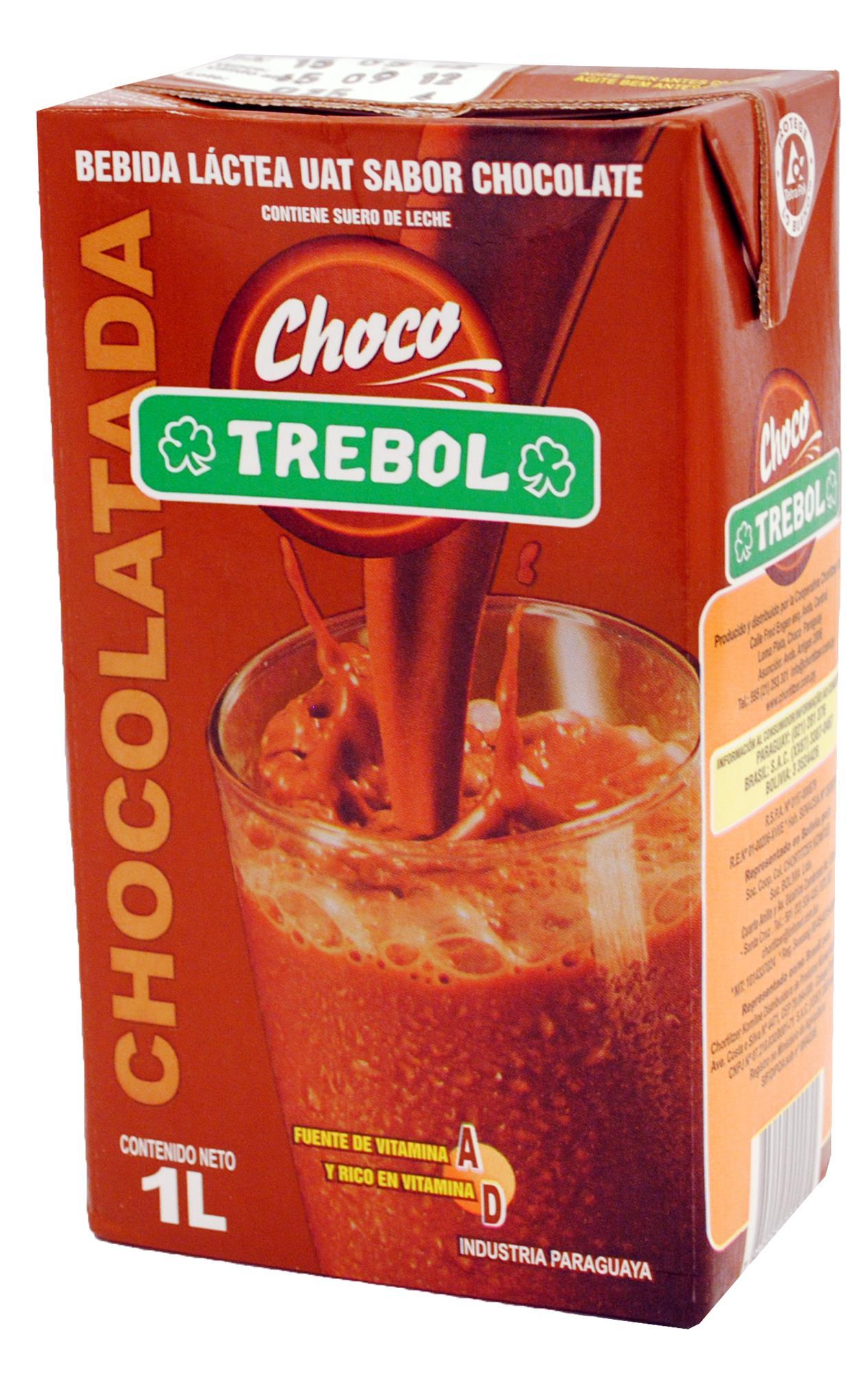 LECHE CHOCOLATADA TREBOL TETRA BRIK 1