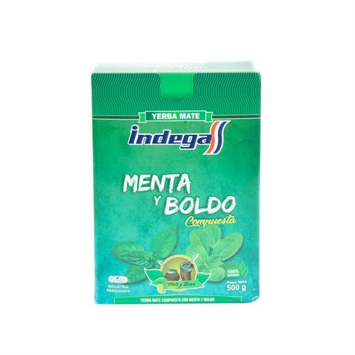 Foto YERBA INDEGA COMP MEDIC MENTA/BOLDO CAJA 500 GR de