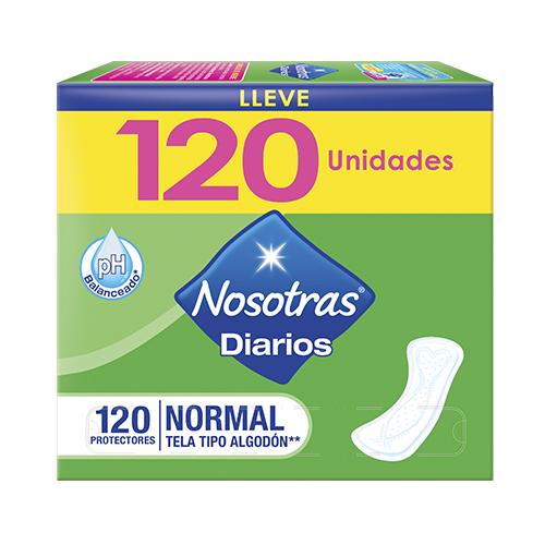 PROTECTOR DIARIO 120 UNIDADES NOSOTRAS CAJA