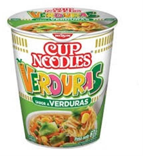 Foto FIDEO NISSIN CUP NOODLES SOPA SABOR VERDURAS 67GR de