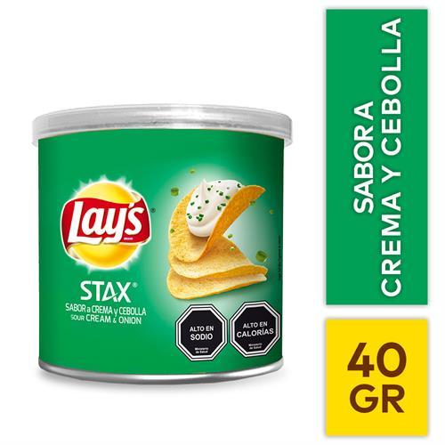 Foto PAPA FRITA CREMA/CEBOLLA STAX 40G LAYS TUB de