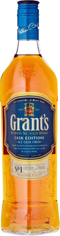 WHISKY ALE CASK FINISH 750ML GRANTS BOT