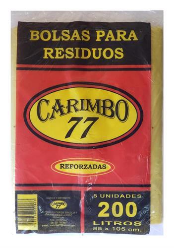 Foto BOLSA DE RESIDUOS REFORZADA 200LT CARIMBO 77 X 5UND de