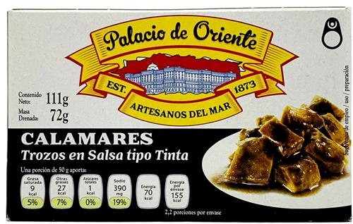 Foto CALAMAR EN TINTA 115GR PALACIO DE ORIENTE LATA de