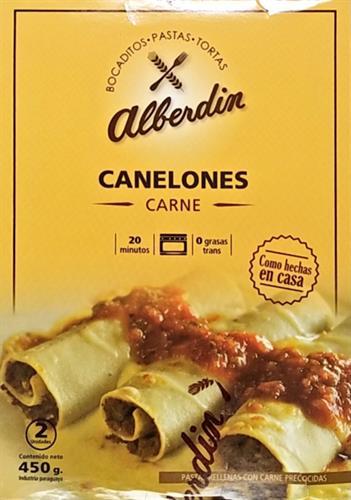 Foto CANELONES DE CARNE 450GR ALBERDIN CAJA  de