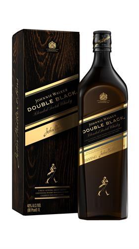 Foto WHISKY DOUBLE BLACK 750ML JOHNNIE WALKER BOTELLA CON CAJA de