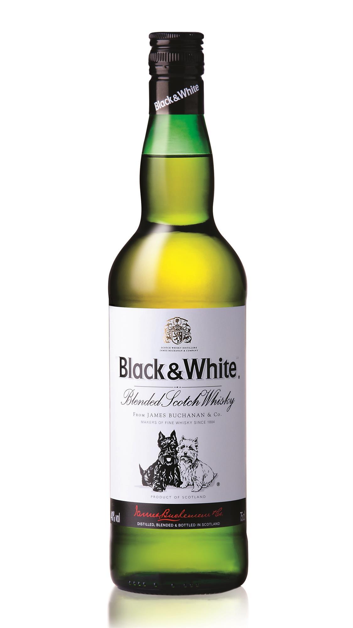 WHISKY BLACK & WHITE SIN CAJA 1 LITRO