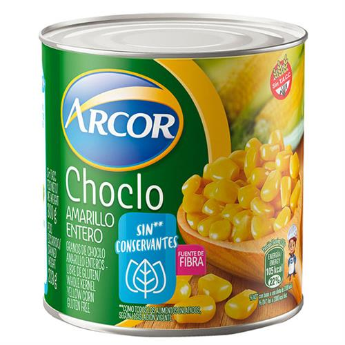 Foto CHOCLO AMARILLO ENTERO 310 GR ARCOR LAT de