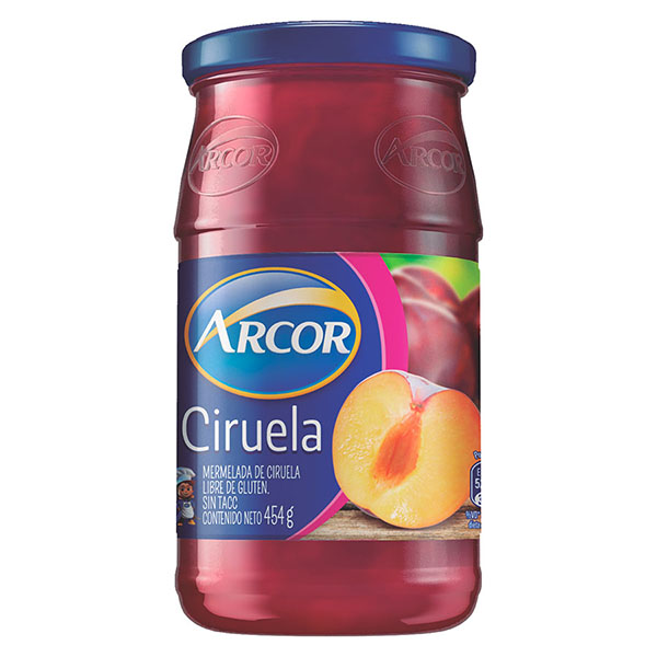 MERMELADA ARCOR DE CIRUELA FRASCO 454 GR