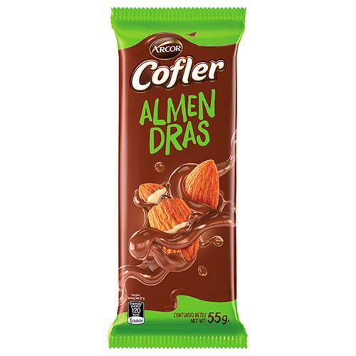 Foto CHOCOLATE TABLETA LECHE CON ALMENDRAS 55 GR COFLER PLA de