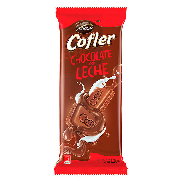 CHOCOLATE TABLETA LECHE COFLER 100GR ARCOR PLA
