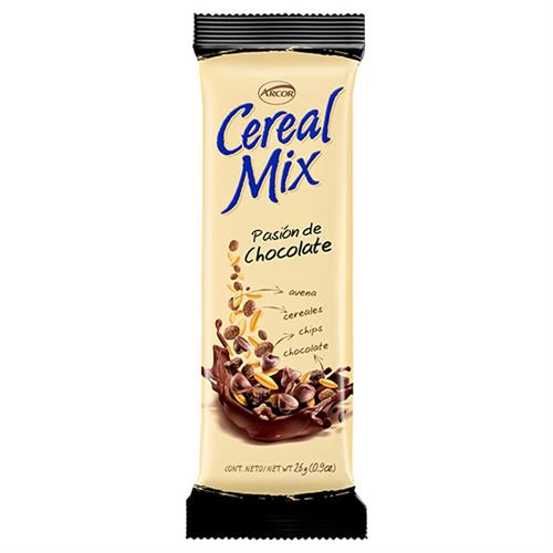 Foto BARRA DE CEREAL MIX PASION DE CHOCOLATE 26GR ARCOR PLA de