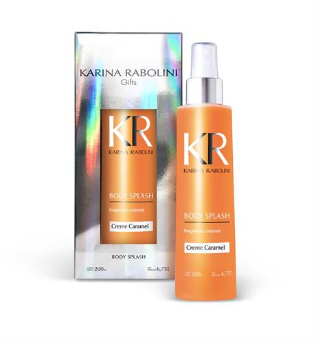 Foto BODY SPLASH KARINA RABOLINI CREME CARMEL FRASCO 200ML de