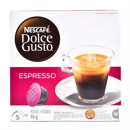 Foto CAFÉ NESCAFE DOLCE GUSTO ESPRESSO 16 CÁPSULAS de