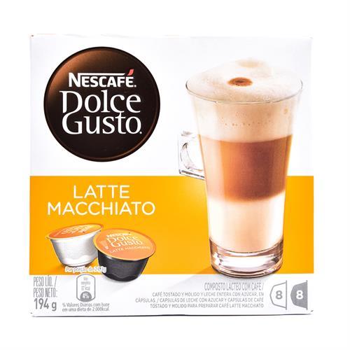 Foto CAFÉ NESCAFE DOLCE GUSTO LATTE MACCHIATO 8 CÁPSULAS de
