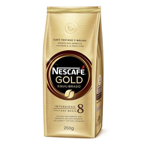 Foto CAFE TOSTADO Y MOLIDO NESCAFE GOLD EQUILIBRADO 250GR de