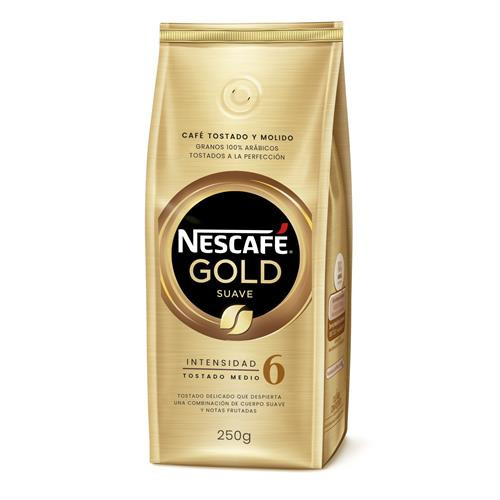 Foto CAFE TOSTADO Y MOLIDO NESCAFE GOLD SUAVE 250 GR de