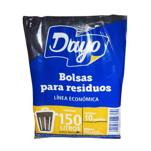 BOLSA P/RESIDUOS DAYO 150LTS ECONOMICA 10UNIDADES