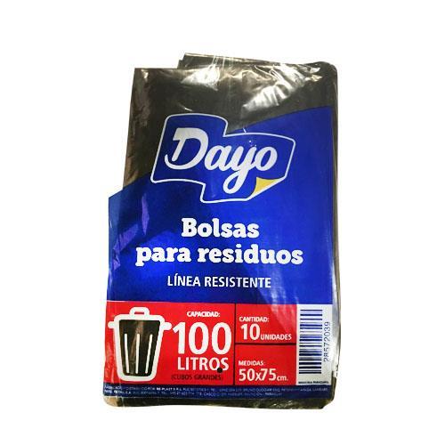 Foto BOLSA PARA RESIDUOS DAYO 100LTS RESISTENTE 10UNIDADES de