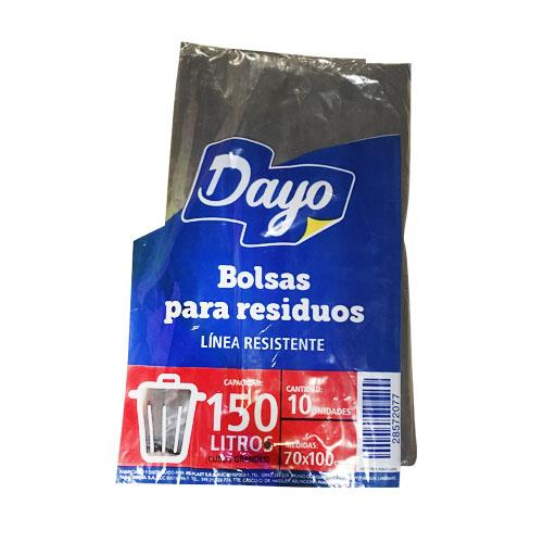 Foto BOLSA PARA RESIDUOS DAYO 150LTS RESISTENTE 10UNIDADES de
