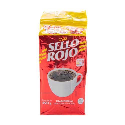 Foto SELLO ROJO CAFE TRADICIONAL TOSTADO Y MOLIDO 490 GR de