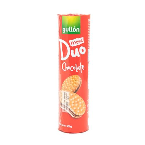 Foto GALLETITA RELLENA D/CHOCOLATE GULLON MEGA DUO 500GR PAQ de