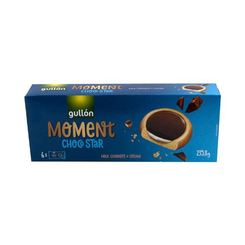 Foto GALLETAS RELLENAS MOMENT CHOCO STAR GULLON 235.8GR CJA de
