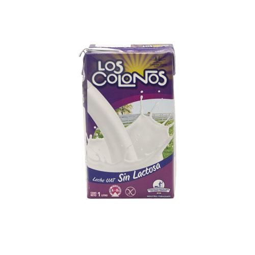 LECHE SIN LACTOSA 1LT LOS COLONOS TETRA