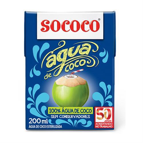 Foto AGUA DE COCO 200ML SOCOCO TETRA de