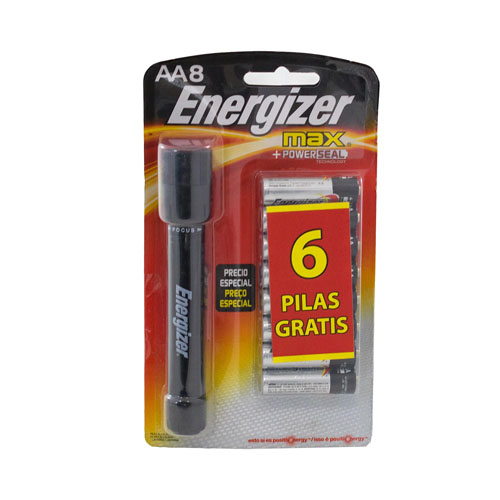 LINTERNA AA8 ENERGIZER MAX C/8 PILAS BLIS