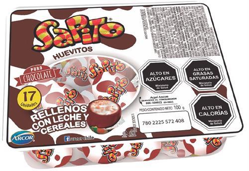 Foto HUEVITOS DE CHOCOLATE SAPITO ARCOR 17 UNIDADES de